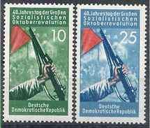 1957 ALLEMAGNE ORIENTALE 329-30** Révolution, Arme - [6] Democratic Republic