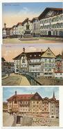 3 Cards Bad Tolz Marktstrasse , Marienstift, - Bad Toelz