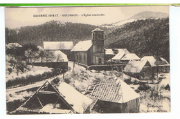 CPA-68-GUERRE DE 1914-15-GOLDBACH-SOUS LA NEIGE-L'EGLISE BOMBARDEE- - Sonstige Gemeinden
