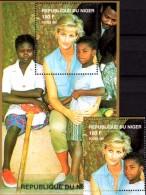 Porträt Diana Mit Kinder 1997 Niger A1433+ Block A 111 ** 14€ Lady Di Hb Blocs M/s Flower Princess Of Wales Sheets Bf UK