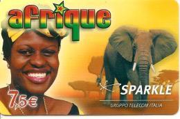 CARTE-PREPAYEE-SPARKLE-7. 5 €-AFRIQUE-ELEPHANT-31/12/2008-R° BRILLANT-BE - France