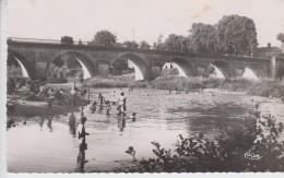 CPSM Saint-Florent-sur-Cher - La Pont Sur Le Cher Et La Plage (avec Animation) - Saint-Florent-sur-Cher