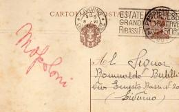 1931  CARTOLINA CON ANNULLO LIVORNO + TARGHETTA - Storia Postale