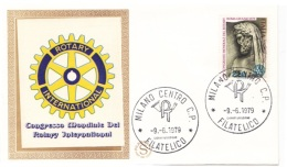 FDC  FILAGRANO -   CONGRESSO ROTARY - Del  9 Giugno 1979  (40111) - 6. 1946-.. Repubblica