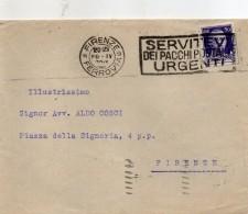 1930  LETTERA CON ANNULLO FIRENZE + TARGHETTA - Storia Postale