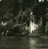 Italie Lac De Come Lenno Villa Balbianello Ancienne Photo Stereo 1900 - Photos Stéréoscopiques