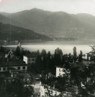 Italie Lac De Come Côme Faubourg San Giorgio Ancienne Photo Stereo 1900 - Stereoscopic