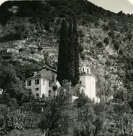 Italie Lac De Come Nobiallo L'Eglise Ancienne Photo Stereo 1900 - Stereoscopic
