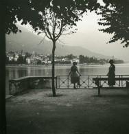 Italie Lac Majeur Locarno Vue Vers Gordola Ancienne Photo Stereo Possemiers 1920 - Stereoscopic