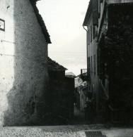 Italie Lac Majeur Brissago Une Rue Ruelle Ancienne Photo Stereo Possemiers 1920 - Stereoscopic