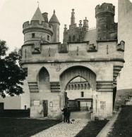 France Pierrefonds Entrée Du Chateau Ancienne Photo Stereo NPG 1900 - Stereoscopic