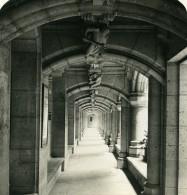 France Pierrefonds Chateau Galerie De La Cour Ancienne Photo Stereo NPG 1900 - Photos Stéréoscopiques