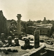 Egypte Luksor Louxor Luxor Temple De Jupiter Amon Ancienne Photo Stereo NPG 1900 - Stereoscopic