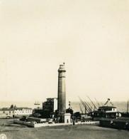 Egypte Port Said Le Phare Ancienne Photo Stereo NPG 1900 - Stereoscopic
