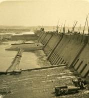 Egypte Assouan Barrage En Construction Ancienne Photo Stereo NPG 1900 - Stereoscopic