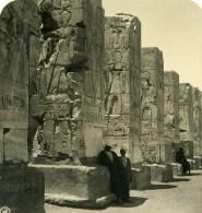 Egypte Temple De Deir El Bahari Ancienne Photo Stereo NPG 1900 - Stereoscopic