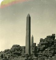 Egypte Karnak Obelisque Obelisk Ancienne Photo Stereo NPG 1905 - Stereoscopic