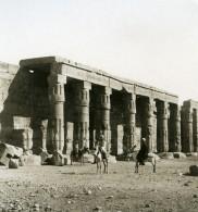 Egypte Temple De Gournah Kurna Séthi Ier Ancienne Photo Stereo NPG 1906 - Stereoscopic