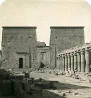 Egypte Assouan Philae Temple D'Isis Ancienne Photo Stereo NPG 1906 - Stereoscopic