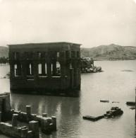 Egypte Temple De Philae Kiosque De Trajan Ancienne Photo Stereo 1900 - Stereoscopic