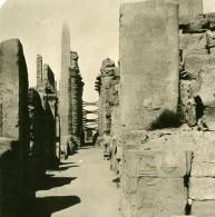 Egypte Karnak Cour Du Temple D'Amon Obelisque Ancienne Photo Stereo NPG 1900 - Stereoscopic