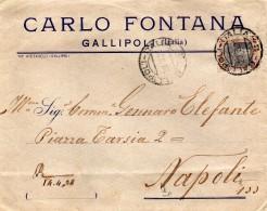 1932  LETTERA CON ANNULLO  GALLIPOLI - Storia Postale