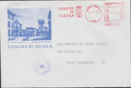 FAENZA (RAVENNA)  - COMUNI D'ITALIA -AFFRANCATURA ROSSA (120416) - Machine Stamps (ATM)