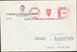 RODENGO SOIANO (BRESCIA)  - COMUNI D'ITALIA -AFFRANCATURA ROSSA (120416) - Marcofilie - EMA (Print Machine)