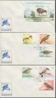 1990-FDC-40 CUBA FDC. 1990. HF EXPO NEW ZEALAND SHEET + SET. AVES PAJAROS BIRD KIWI - FDC