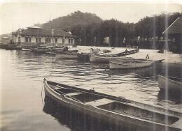 THONON LES BAINS   LE DEBARCADERE    15.9.1928    BELLE  PHOTO SEPIA ANIMEE - Lieux