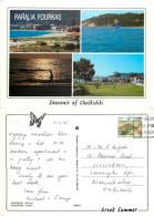 Paralia Fourkas, Chalkidiki, Greece Postcard Posted 1995 Stamp - Greece