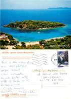 Thesprotia, Perdika, Greece Postcard Posted 2008 Stamp - Greece