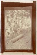 GUERRE 1914.18  BOMBE AU SOL    PHOTO SEPIA ANIMEE 9X6CM - Guerre, Militaire