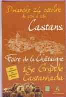 CC °° 11 Castans - Foire De La Châtaigne - Grande Castanhada Tous Les Ans - Fiere