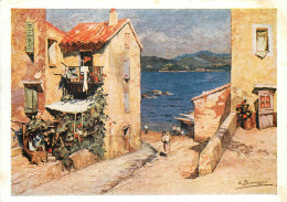 Beaussier, St Tropez, Art Painting Postcard Unposted - Malerei & Gemälde