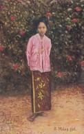 Malaysia Beautiful Malay Girl In Traditional Costume 1925 - Malaysia