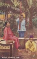 Malaysia Malay Women Pounding Rice Tucks - Malaysia