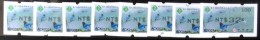 Set Of 8 Taiwan Black Imprint ATM Frama -PHILATAIPEI 2016 World Stamp Exhi. - Blue Magpie Bird Unusual
