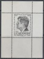 Austria 1960s John F. Kennedy, Perforated Black Essay, Proof, Essai, Epreuve