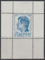 Austria 1960s John F. Kennedy, Perforated Blue Essay, Proof, Essai, Epreuve