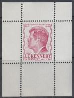 Austria 1960s John F. Kennedy, Perforated Red Essay, Proof, Essai, Epreuve