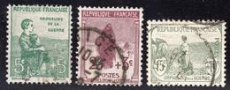 N° 148 à 150  Avec Oblitération Cachet à Date  TTB - France