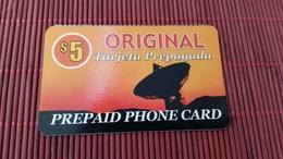 Prepaidcard 5 $ Original Used 2 Scan Rare - Télécartes