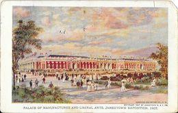 Norfolk VA - Jamestown Exposition 1907 - Palace Of Manufactures And Libéral Arts (illustration) - Norfolk