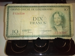 LUXEMBOURG 1954 10 FRANCS P-48 RARE BANKNOTE LOC#1363 - Luxemburg