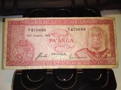 YONGA 1983 2 PA'ANGA P-20c RARE BANKNOTE LOC#1369 - Tonga