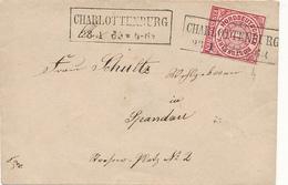 CHARLOTTENBURG (Berlin) - 1869 , Briefchen Nach Spandau - Norddeutscher Postbezirk