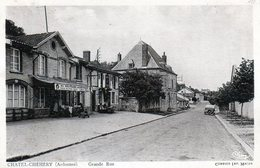 Cpa (08) Chatel-chehery  --  Grande  Rue (sepia) - Other Municipalities