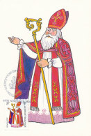 D27763 CARTE MAXIMUM CARD 1985 GUERNSEY - SAINT NICOLAS SINTERKLAAS CP ORIGINAL