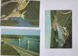 Belgique Province De Liege Jalhay Barrage De La Gileppe Lot De 3 Cartes Postales - Gileppe (Barrage)